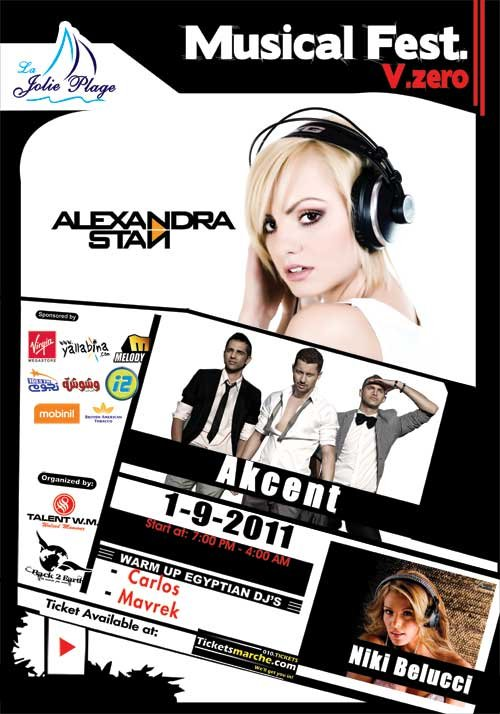 Musical fest V.Zero ( Nikki Belucci - Akcent - Alexndra Stan ) in Egypt !!!!! Mm?id=3343