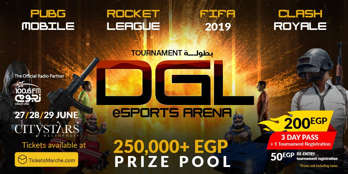 Tickets eSports tournament : PUBG, FIFA, Clash Royale